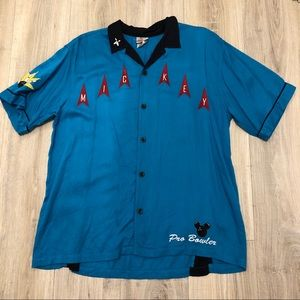 VINTAGE DISNEY STORE MICKEY MOUSE BOWLER'S SHIRT